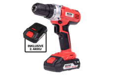 20 V li-ion cordless drill incl. spare-battery